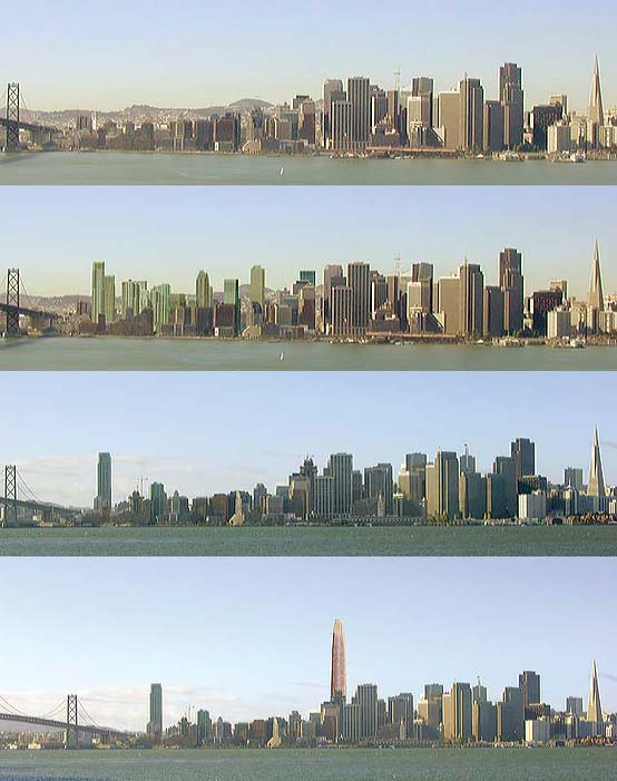 San Francisco skyline showing potential development