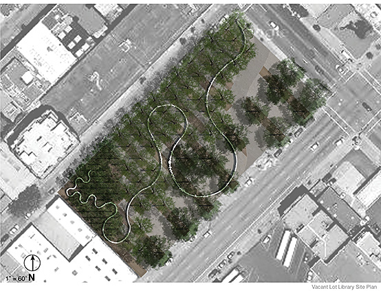 Vacant Lot Library site plan.
