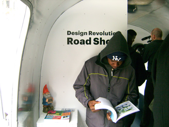 A BCAM student at one stop on the Design Revolution Roadshow (NYC)
