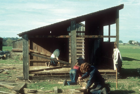 Wood Structure with lean-to roof, Inverness, CA, 1972