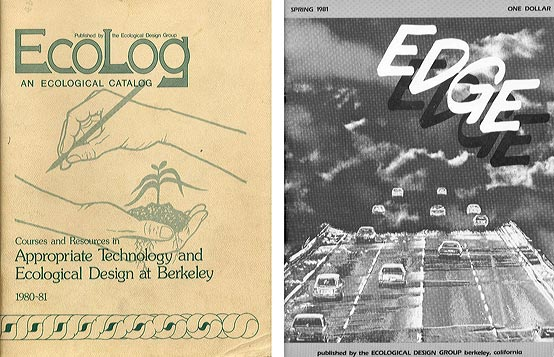 Ecolog Catalog, 1980–81; Edge, published by the Ecological Design Group, Spring 1981