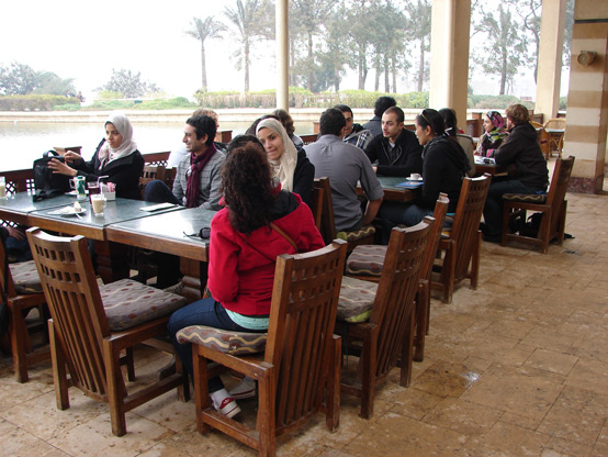 The first day of the workshop included student introductions at the recently designed Al-Azhar Park, site of a former landfill.