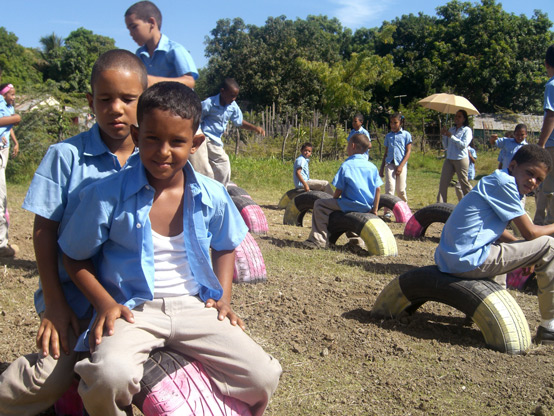A Learning Landscape at Maria Auxiliadora Primary School (Mao, Dominican Republic)
