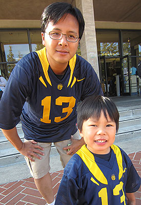 Michael Lin with son, James