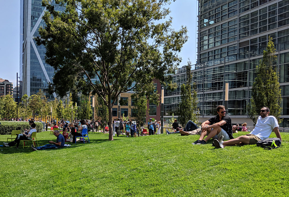 SalesForce Park visitors